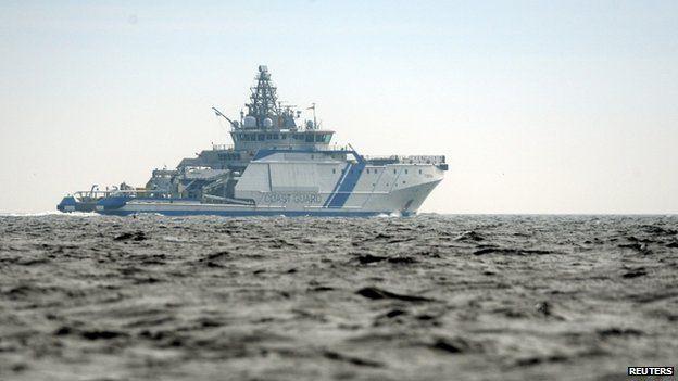 Finnish Border Guard ship Turva off Helsinki on 28 April