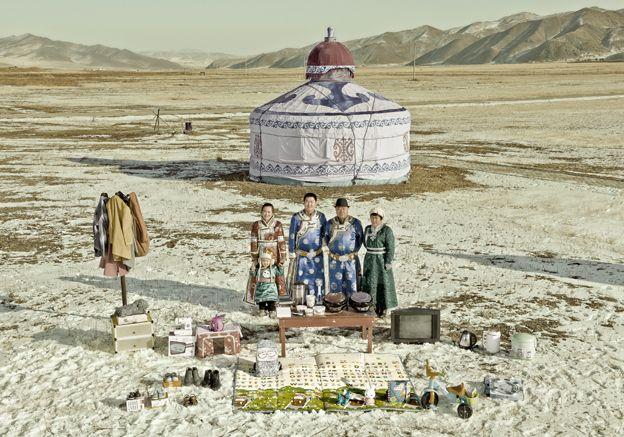 Liu Jun by his yurt