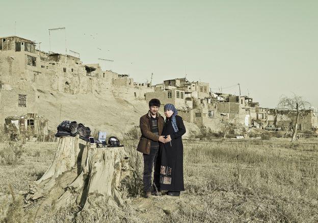 Mahmoodjan and his pregnant wife