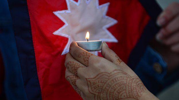 Nepal vigil at Belfast City Hall