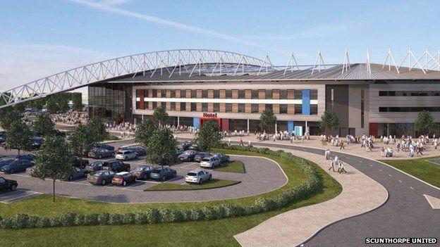 Scunthorpe United's proposed stadium