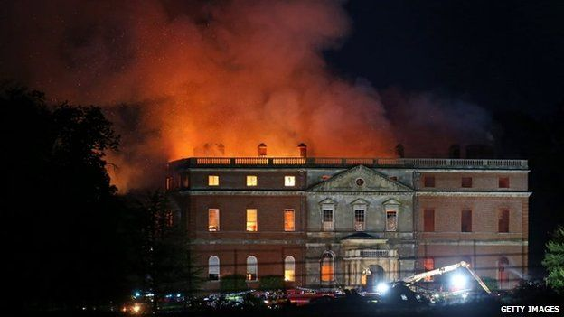 ... Clandon House On Fire