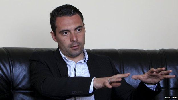 Gabor Vona, chairman of the far right Jobbik party (14 April 2015)