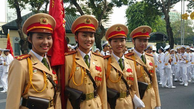 Military parade Ho Chi Minh City