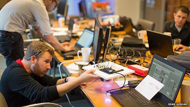 Building prototypes at the NBBJ hackathon