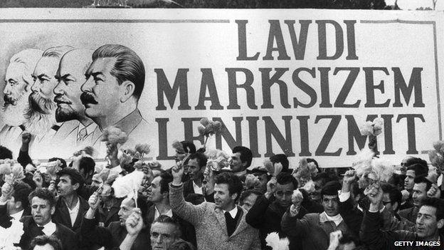 May Day celebrations in Albania in 1974
