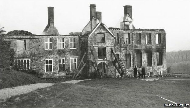 Dunsland House after the fire