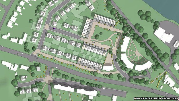 Housing development plans submitted for BBC\'s Llandaff site - BBC News