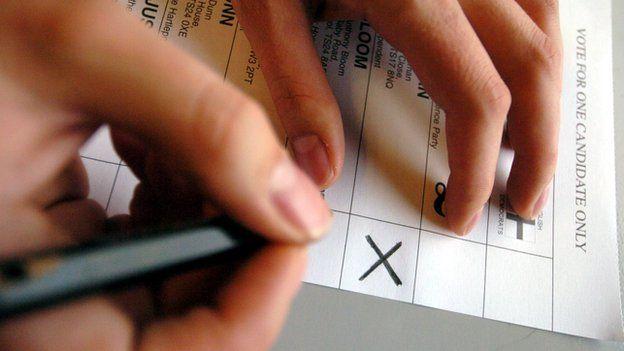 Oy pusulasında el yazısı