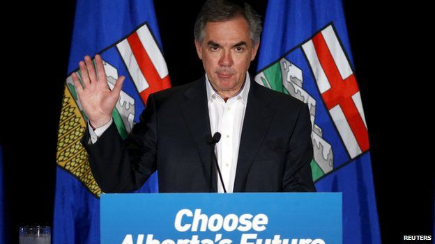 Outgoing Alberta Premier Jim Prentice on 5 May 2015