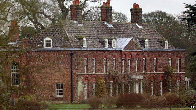 Anmer Hall on the Royal Sandringham Estate in Norfolk.
