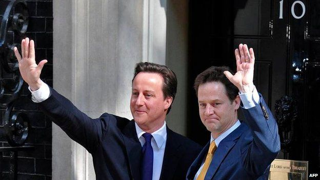 David Cameron and Nick Clegg in 2010