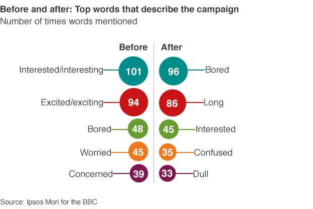 Top words that describe the campaign