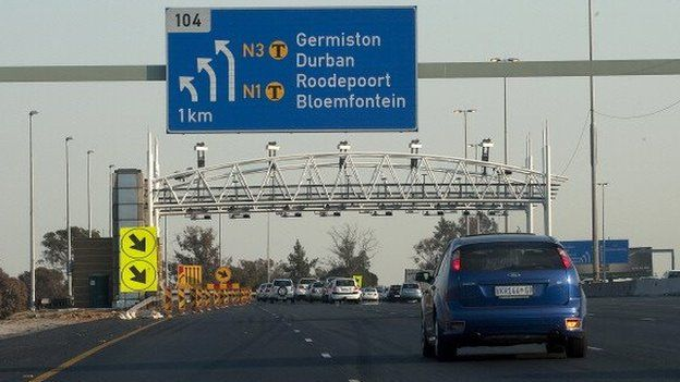 A motorway in South Africa - archive shot 2011