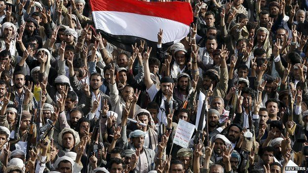 Pro-Houthi demonstrations in Sanaa