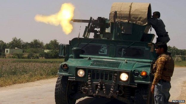 Afghan police fire at Taleban insurgents in Kunduz province - photo 3 May