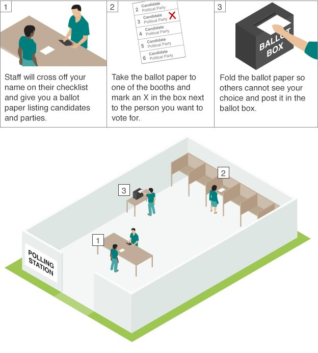 How to vote graphic