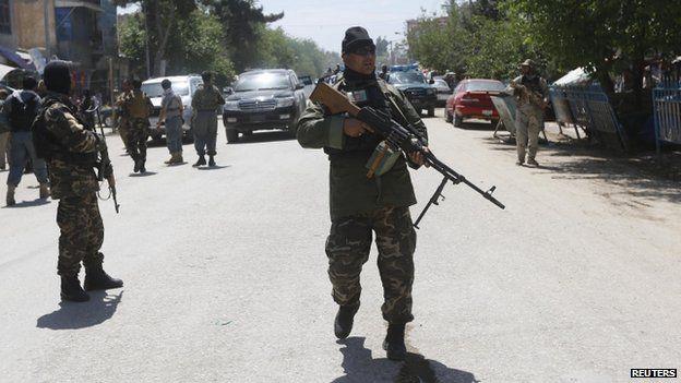 Afghan security forces patrolling in Kunduz - 30 April