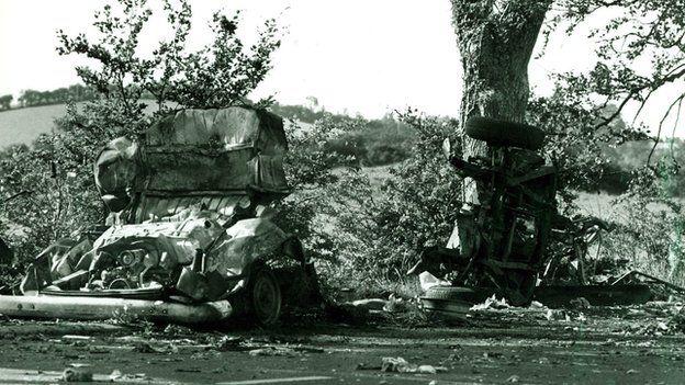 The scene of the Miami Showband massacre