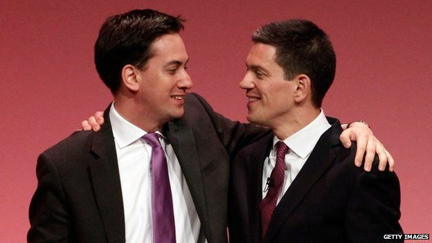 The Miliband brothers at the Labour Party conference in 2010