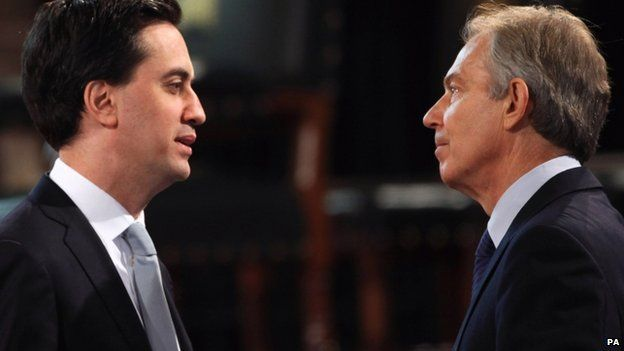 Miliband and Blair in 2012