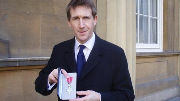 Dan Jarvis with his MBE