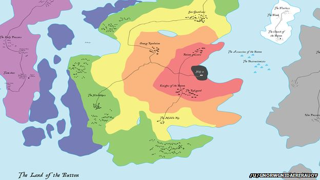 A fictional mythical map