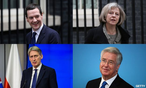 George Osborne, Theresa May, Michael Fallon and Philip Hammond