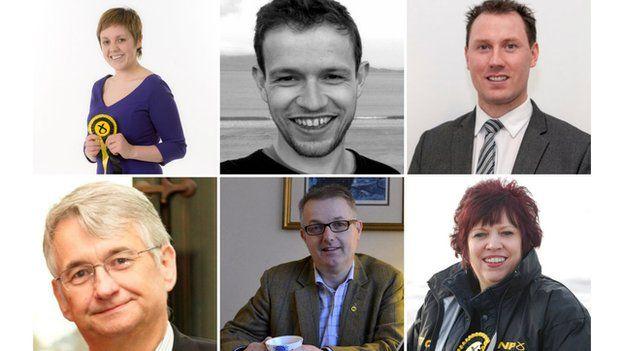 Kisrty Blackman, Callum McCaig, Neil Gray, Mike Weir, Brendan O'Hara, Corri Wilson