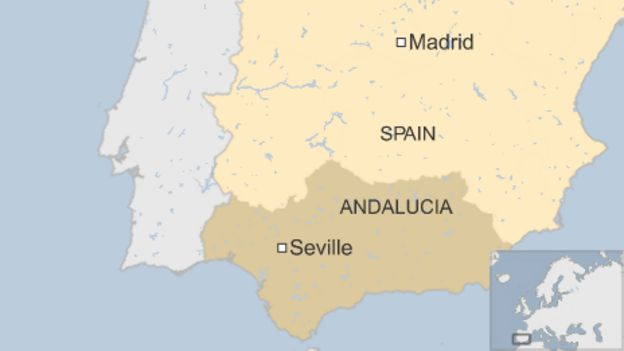 Map Of Spain Showing Airports.Airbus Military Plane Crashes Near Spain S Seville Airport Bbc News