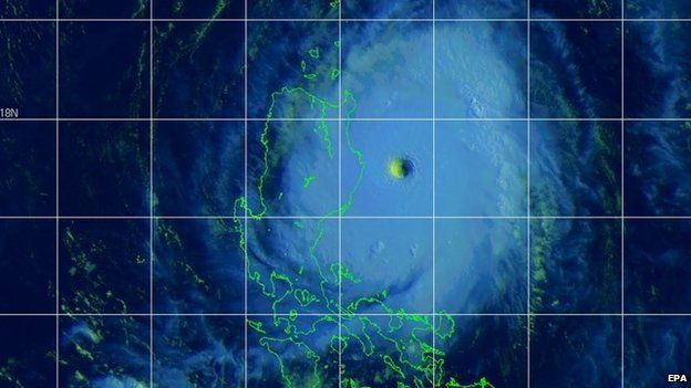 A handout satellite image made available by the US Joint Typhoon Warning Center (JTWC) showing Typhoon Noul located approximately 196 nautical miles north east of Manila, Philippines, on 10 May 2015