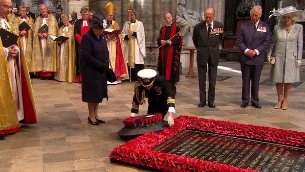 Queen at Westminster Abbey for VE Day service