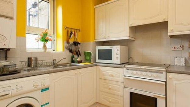 A sunny kitchen in Brune House one of the homes that could be demolished