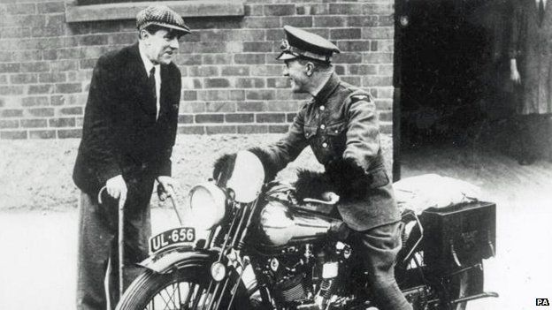 TE Lawrence on his Brough Superior