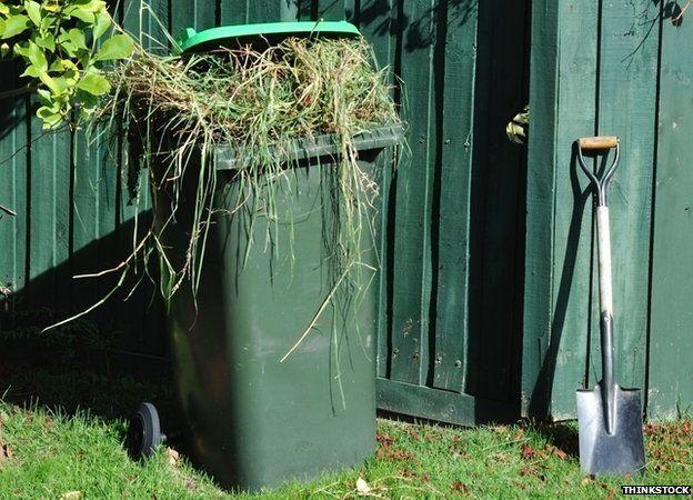 Green garden bin