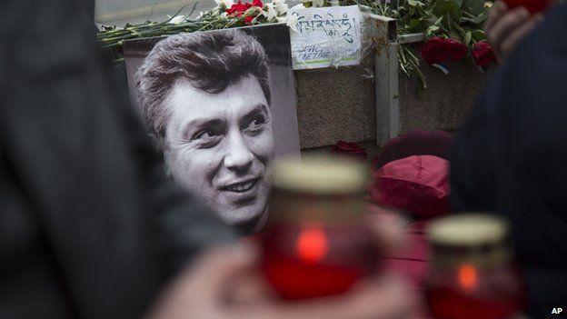 Boris Nemtsov memorial in Moscow