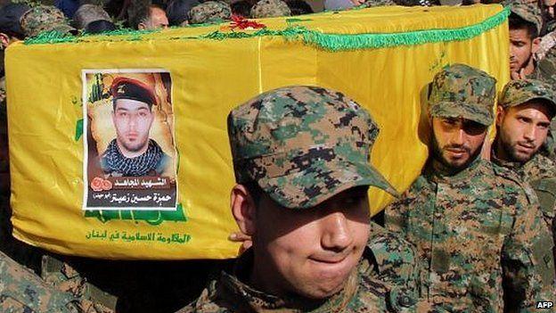 Hezbollah funeral in Lebanon's Bekaa Valley (05/05/15)