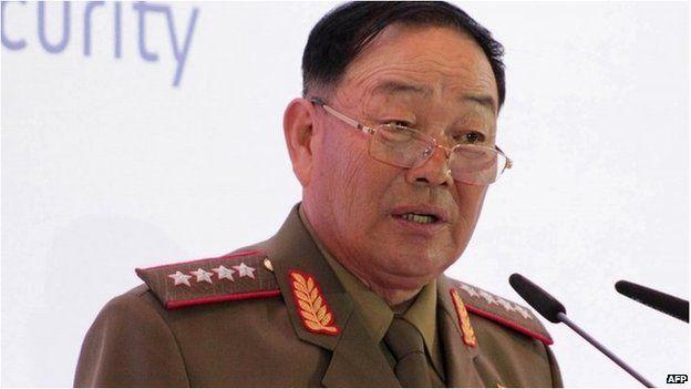 North Korean Defence Minister Hyon Yong-chol (file image)