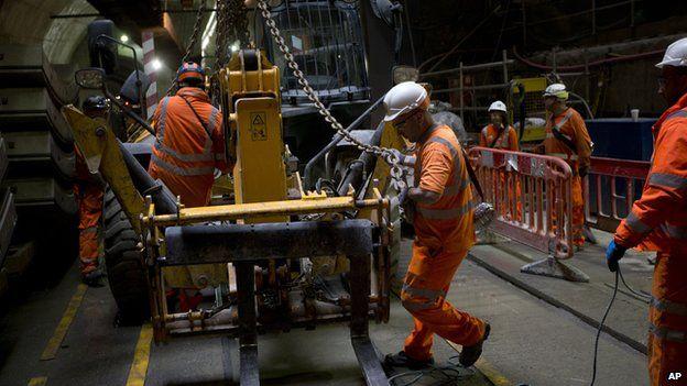 Crossrail workers in LOndon