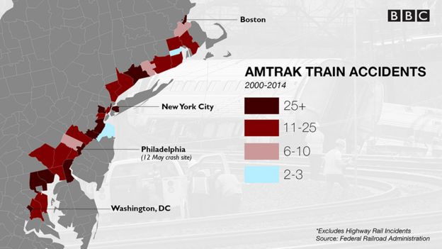 map of amtrak train accidents