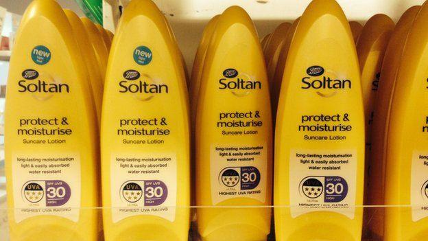 Soltan brand of suncream