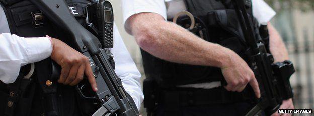 Armed UK police