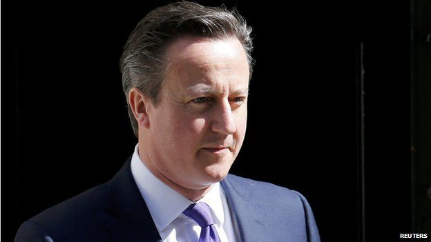 David Cameron leaves 10 Downing Street