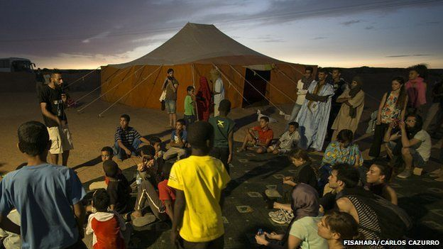 People at the Dakhla camp in Algeria