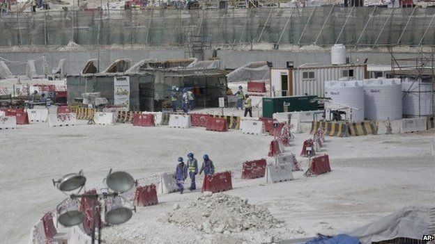 Construction site in Qatar