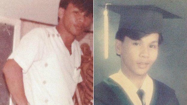 Chua as a nurse and a graduation photo