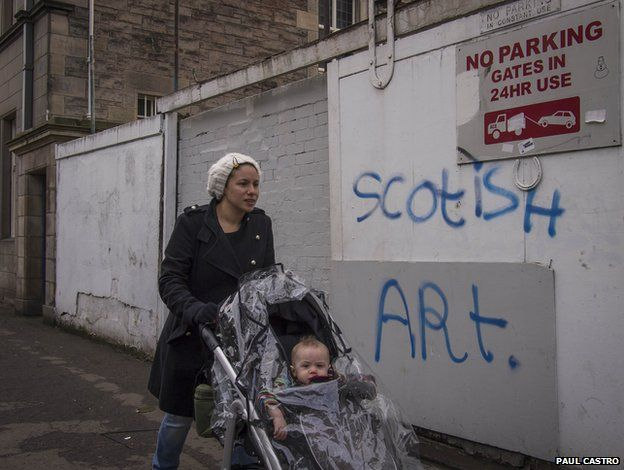Woman and child in Leith