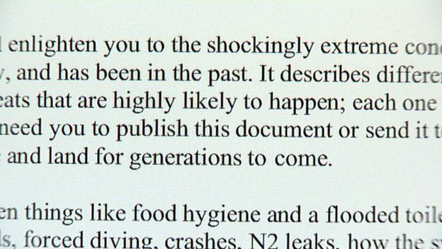 Extract from report