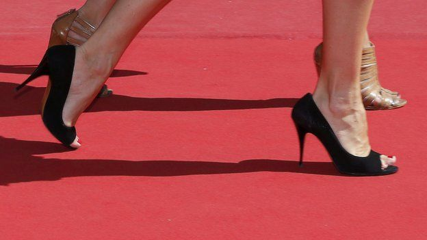 Shoes on the red carpet