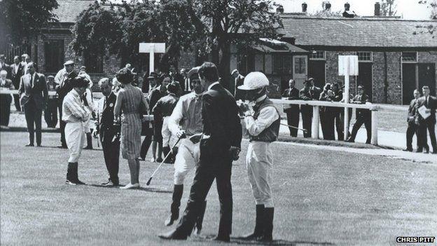 The paddock at Bromford Bridge racecourse, Birmingham